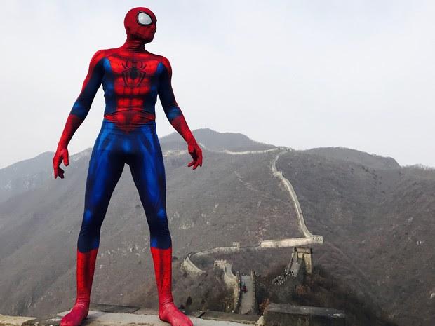 """""""Homem-Aranha Brasileiro"""" não esperava que brincadeira fizesse sucesso (Foto: Arquivo Pessoal)"""