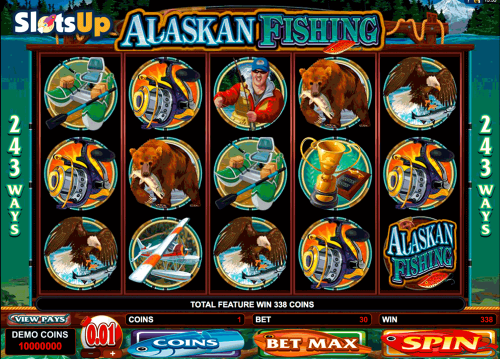 Alaskan Fishing is a fun slot by Microgaming.It has great free spins with a 2x multiplier on all wins, a great bonus game, and all of it is beautiful!