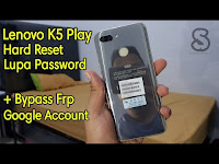Lenovo K5 Play L38011 Hard Reset Lupa Password + Bypass Frp Lock Google Account
