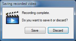 Camtica Guardar grabación