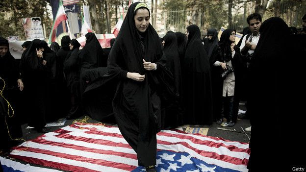Bandera EEUU, Irán