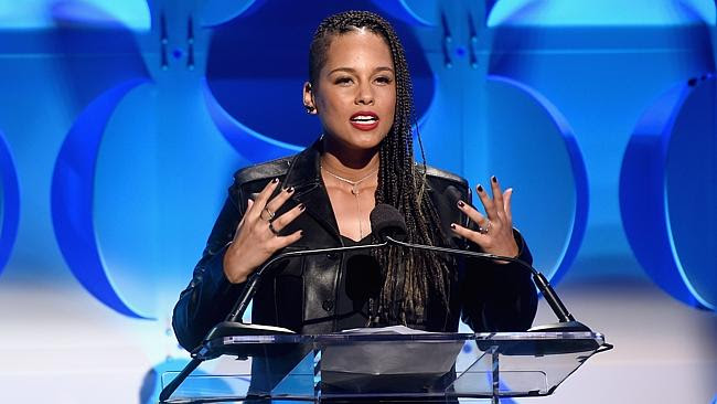 Silly speech ... Alicia Keys won't be giving up her day job after the nonsensical speech