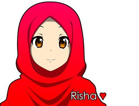 gambar gambar kartun hijab modern baju gamis syari