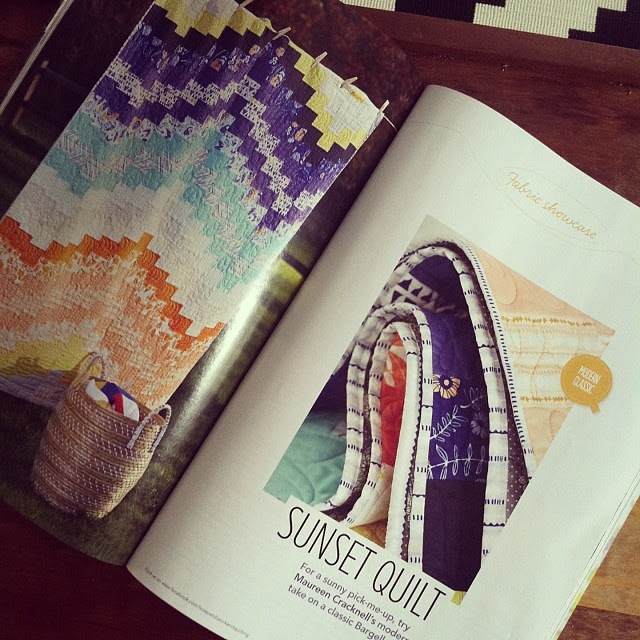 My Sunset Quilt in Issue 5 of Love, Patchwork & Quilting!