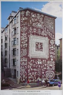 tumbada warli wall painting lyon france