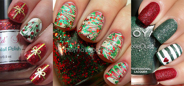 Nails Art: Best Ever Red And Gold Gel Nail Designs