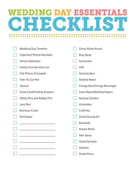 wedding day checklist   going pro   Wedding day checklist