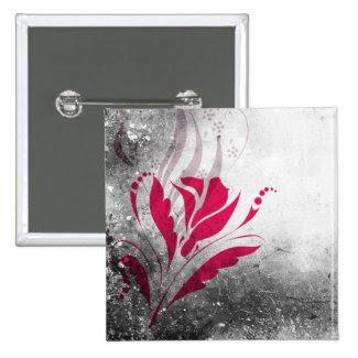 Elegant Grunge Abstract Design Pin