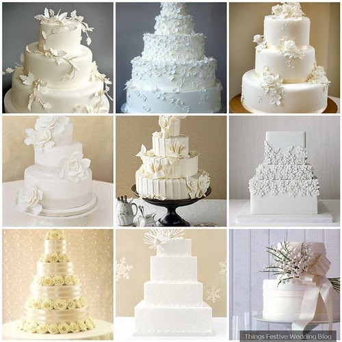 All White Wedding Cakes Simple Elegance Things Festive