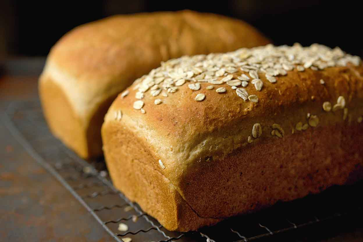 Vermont Whole Wheat Oatmeal Honey Bread Recipe | King ...