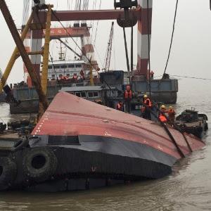 A Administração de Segurança Marítima de Jiangsu disse que as buscas para localizar o desaparecido continuam