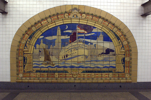 Marine Grill Murals (6/6), Broadway-Nassau Subway Station