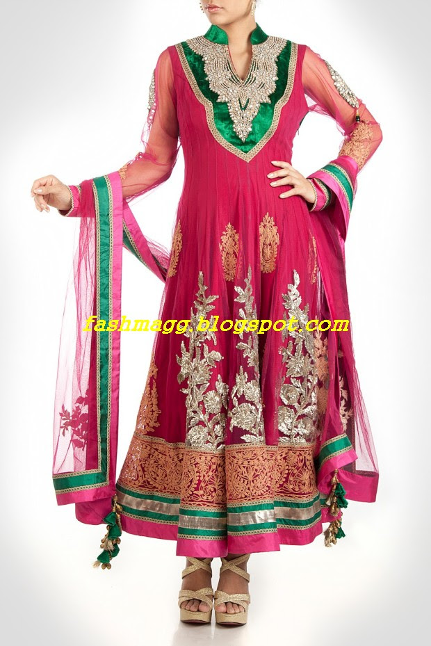 Amazing-Bridal-Wear-Indian-Fashionable-Dress-Designs-for-Cute-Girls-9