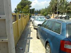 Mal aparcament a l'HTVC