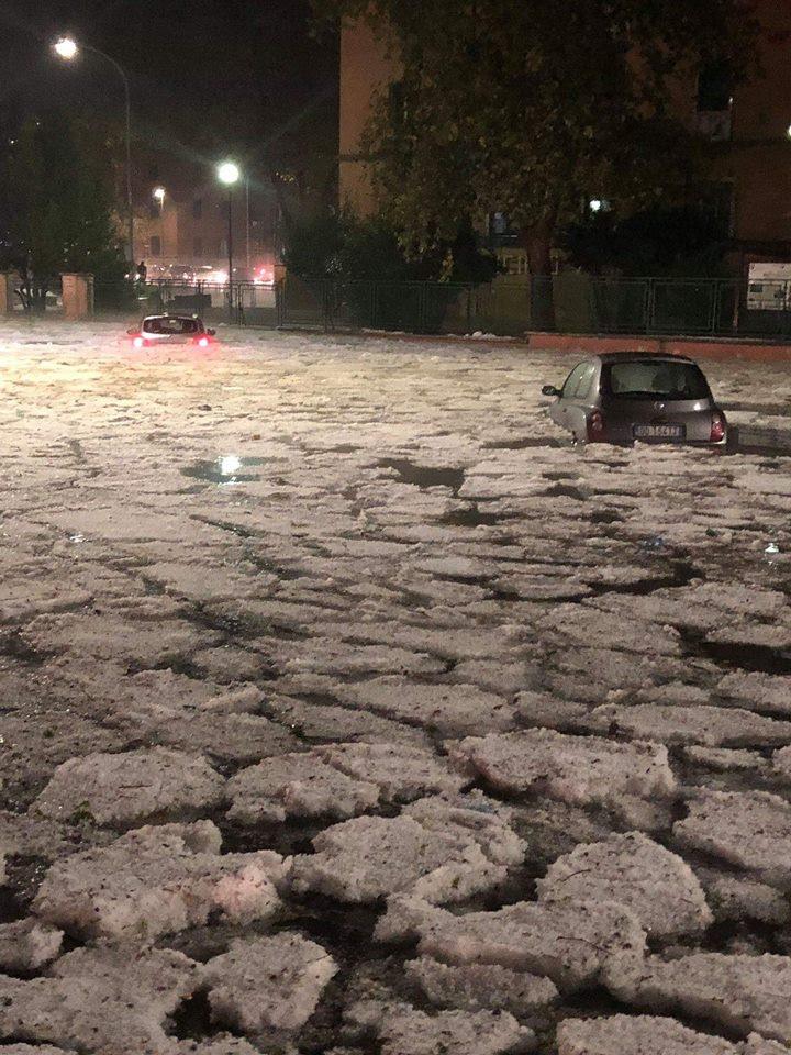 severe hailstorm rome, severe hailstorm rome italy video, severe hailstorm rome italy pictures, severe hailstorm rome italy october 21 2018