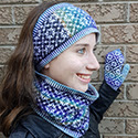 Fouilloy set (earband, cowl, mittens)