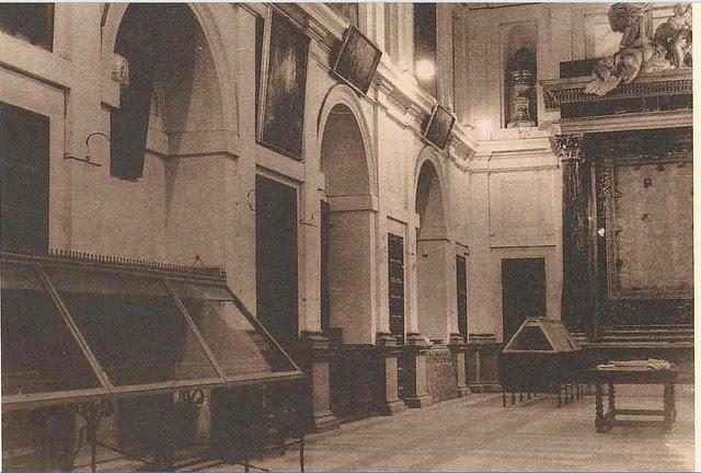 Sacristía de la Catedral tras la incautación llevada a cabo por las autoridades republicanas en 1936