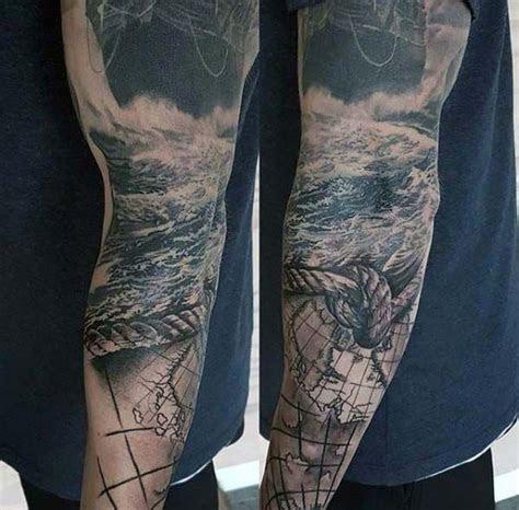 arm sleeve guys rope  ocean sea nautical themed sleeve