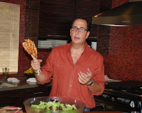 sam the cooking guy making shrimp salad