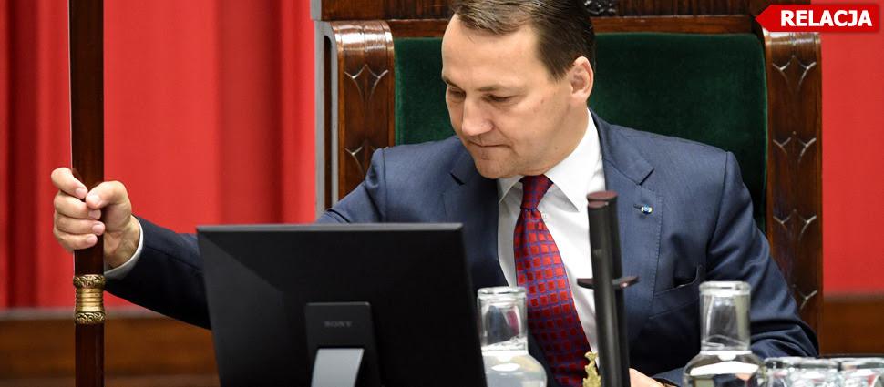 """""""Opozycja nie będzie nam wyznaczała marszałka"""". Co PO zrobi z Sikorskim?"""