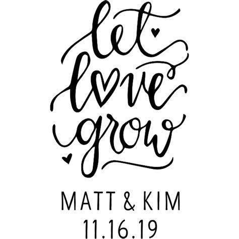 Let Love Grow DIY Wedding Stamp   Simply Stamps