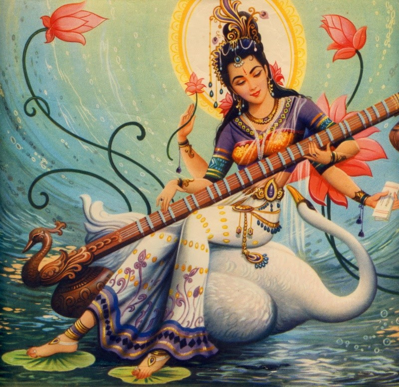 The Goddess Sarasvati
