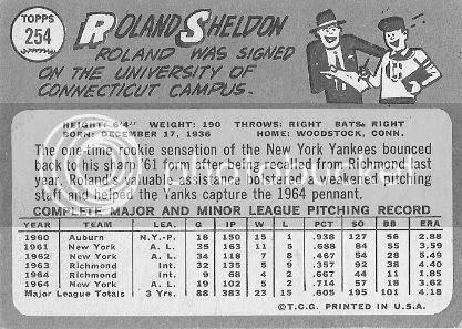 #254 Roland Sheldon (back)