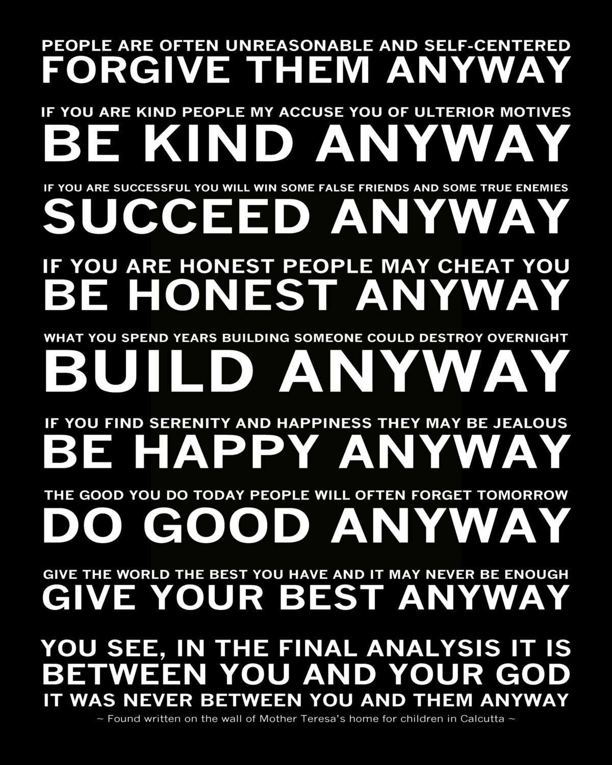 Do It Any Way Mother Teresa Quotes. QuotesGram