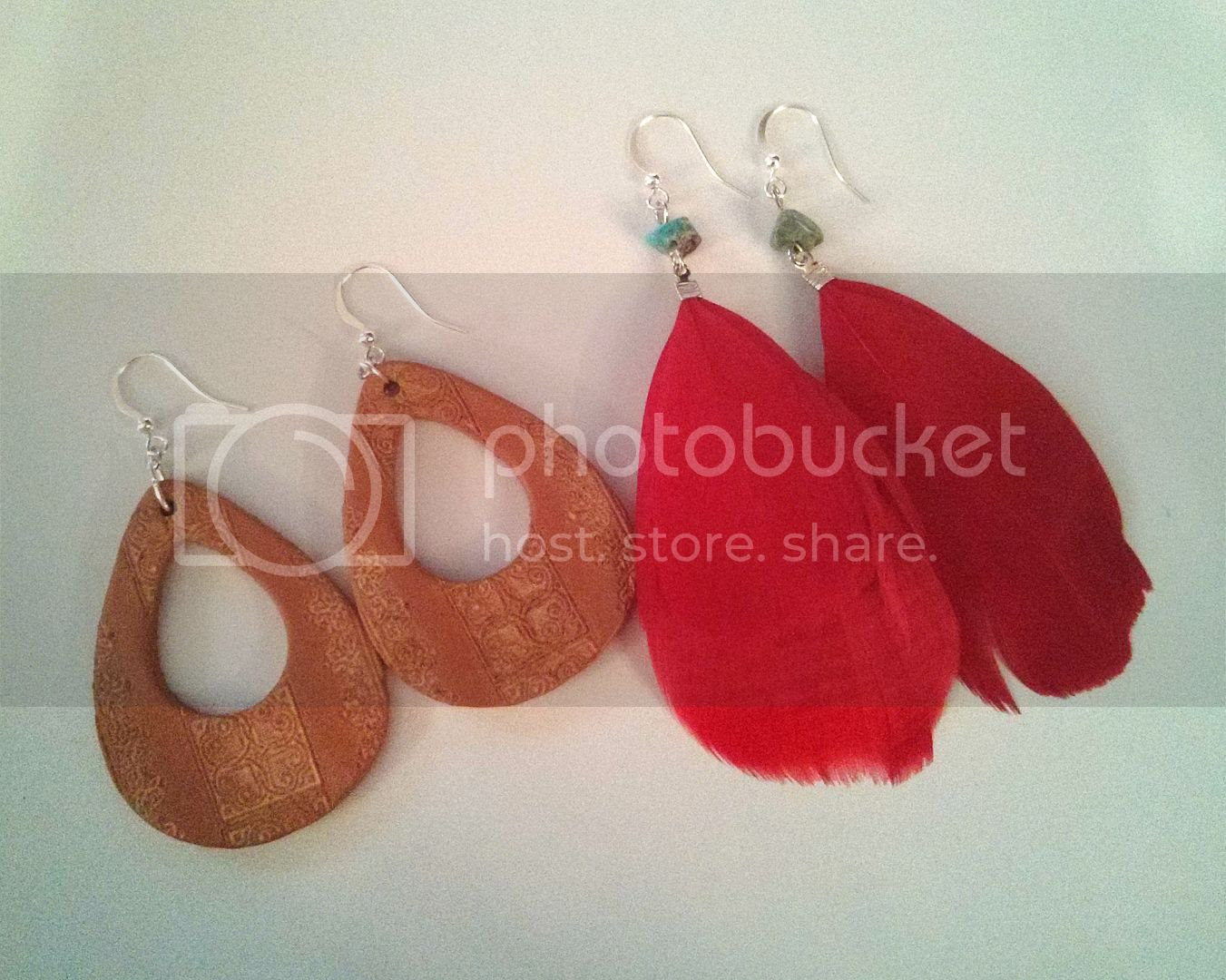 quick feather earrings tutorial