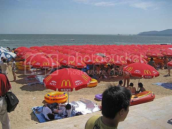 plage foule Chine