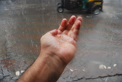 A Blogger  Begging In The Rains by firoze shakir photographerno1