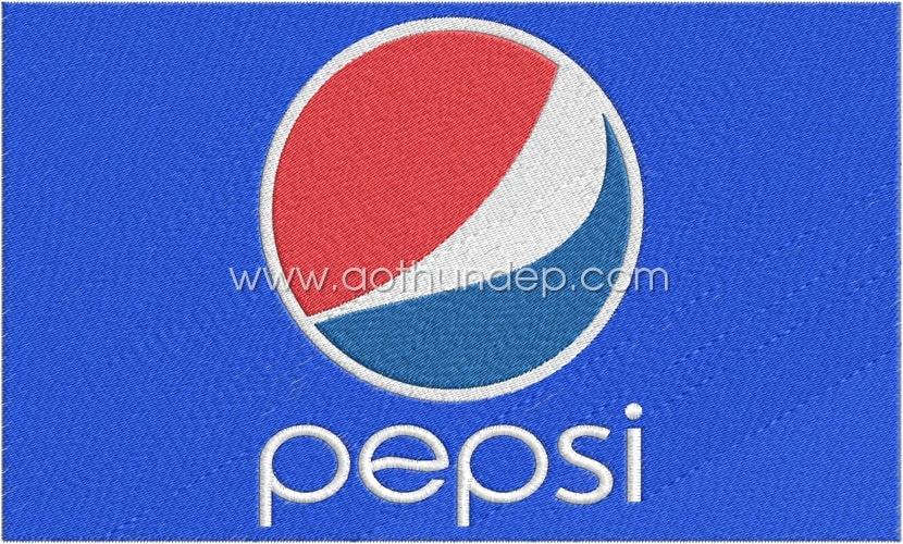 Thêu logo giá rẻ Thêu logo vi tính Pepsi