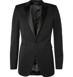 Burberry Prorsum Tailored Tuxedo Suit Jacket
