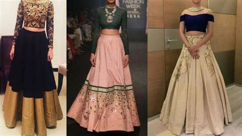 Modern Lehenga Designs for wedding guest    Fusion Simple