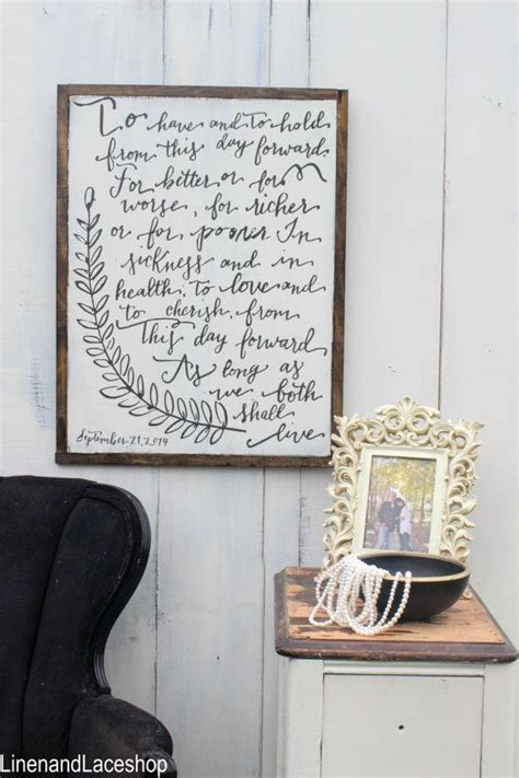 Wedding Vows sign Traditional wedding vows To have and to