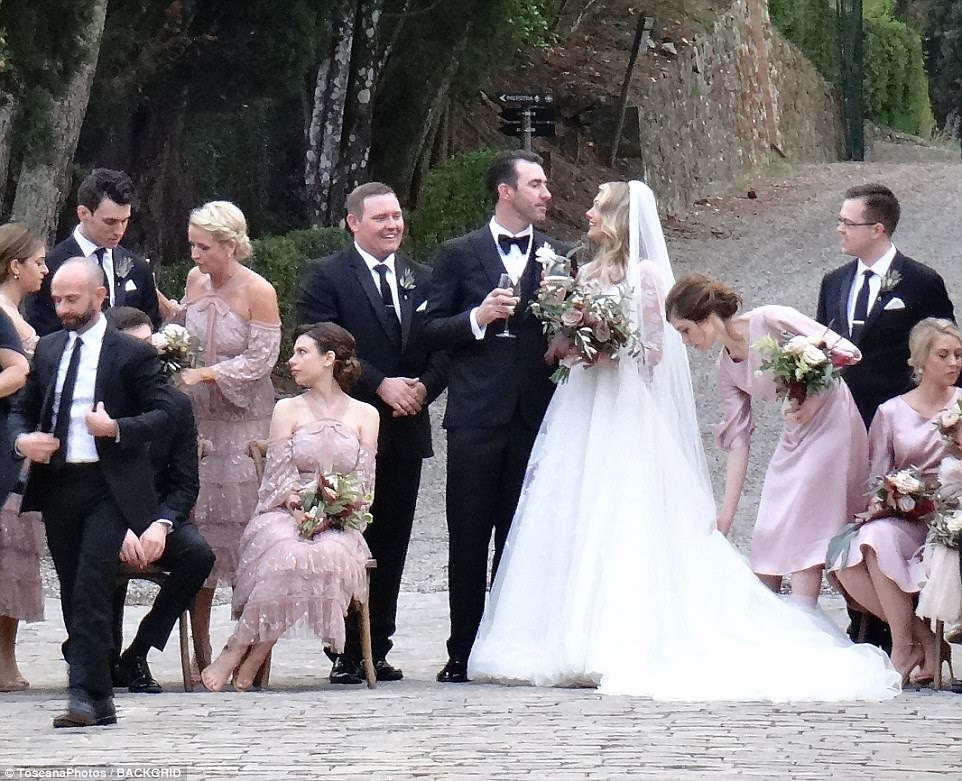 The big day:Kate Upton and Justin Verlander have tied the knot in a romantic ceremony in Montalcino, Italy on Saturday