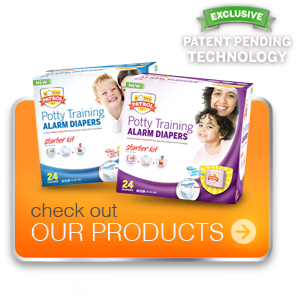 Check Out Potty Patrol alarm diapers for toilet training