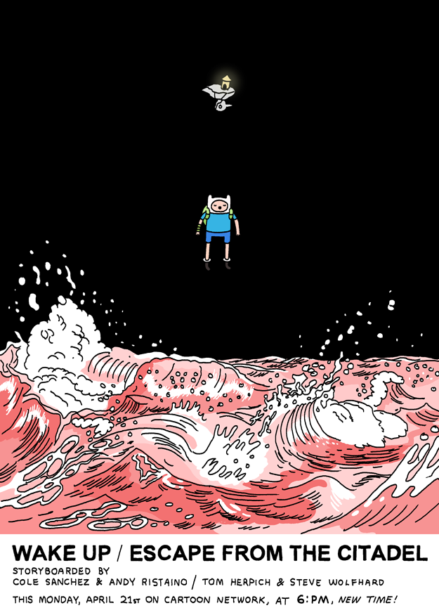 Adventure Time poster, click for larger version