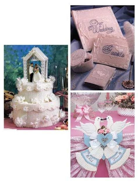 Plastic canvas, Wedding cake centerpieces and Plastic on