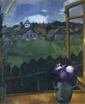 Marc Chagall.  Janela.  Vitebsk.