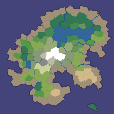 Map with noisy biome boundaries