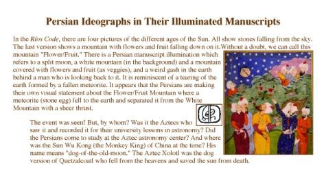 Menunjukkan bahwa dalam manuskrip Persia ini terdapat salah seorang Lelaki yang menunjuk ke arah Bulan Yang terbelah.