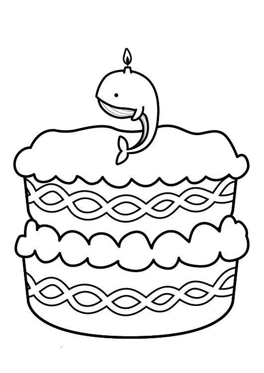 kostenlose malvorlage geburtstag kuchen zum neunten