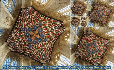 St Edmundsbury Cathedral, Vaulted Ceiling - Golden Rectangles.