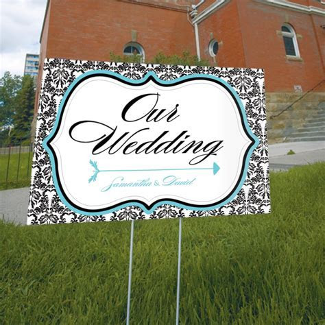 Personalized Love Bird Damask Wedding Reception Ceremony