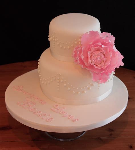 Vanilla: Peony birthday cake