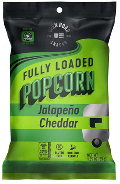 Open Road Fully Loaded Popcorn Jalapeno Cheddar Adds Pep ...