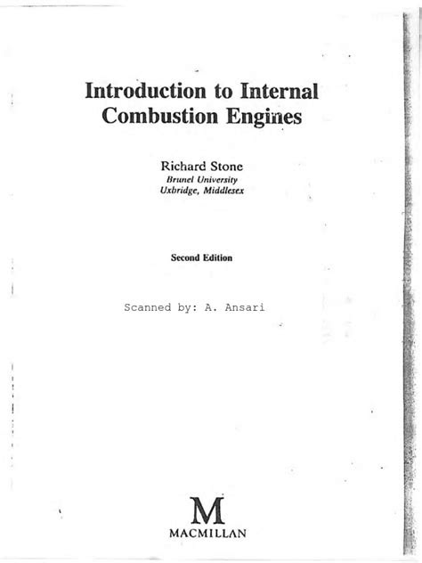 Introduction to Internal Combustion Engines, 2nd Edition