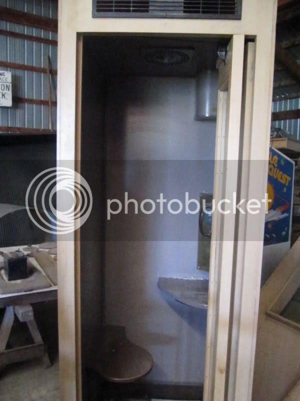 heated telephone booth