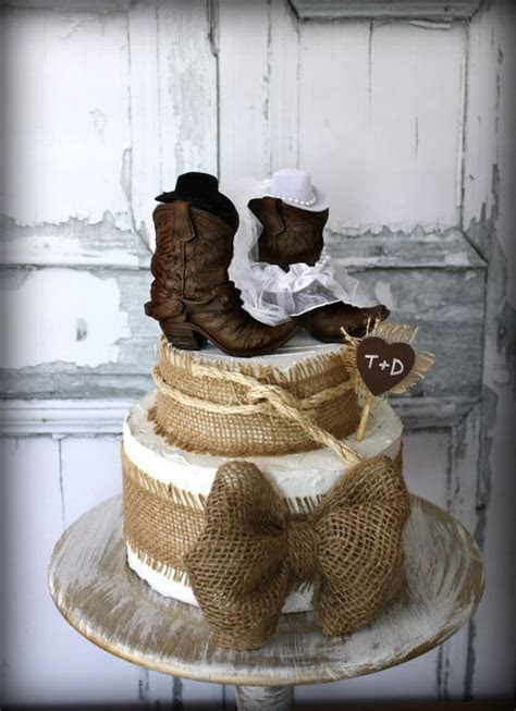 cowboy boots cowgirl boots wedding cake topper western